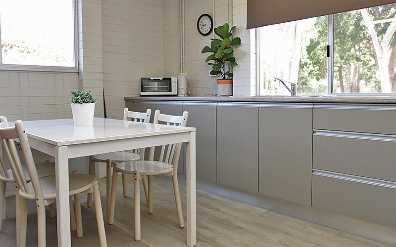 About to Castaway - Granny flat kitchenette